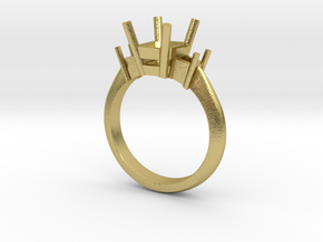Ring mount  in Natural Brass