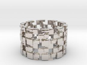 Borg Cube Ring Size 9 in Platinum