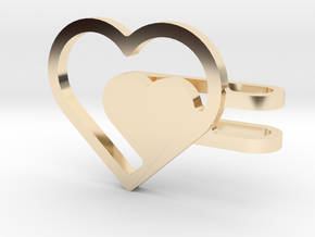 Hearts Watch Charm in 14k Gold Plated Brass