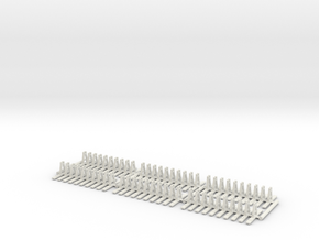 Listowel Lartigue Track (N Scale) in White Natural Versatile Plastic