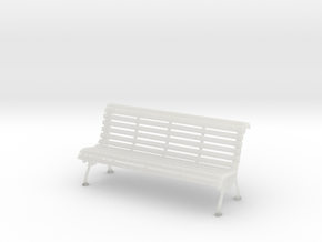 1:10 Scale Model - Bench 02 in Smooth Fine Detail Plastic