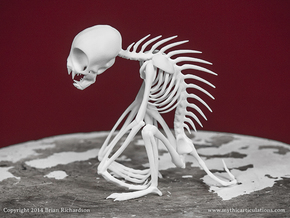 Chupacabra Skeleton  in White Strong & Flexible