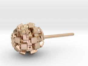 geometric bead earring in 14k Rose Gold Plated Brass