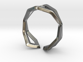 HIDDEN HEART Sharp, ring US size 4.5  in Polished Silver: 4.5 / 47.75