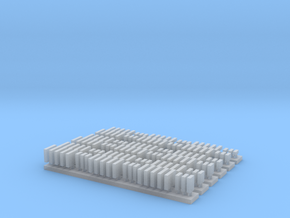 1:3000 Scale Shipping Containers in Smooth Fine Detail Plastic