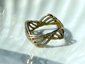 ring.Wave in Natural Bronze