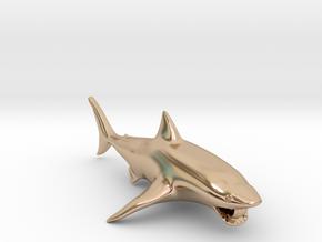 shark pendant in 14k Rose Gold