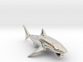 shark pendant in Platinum