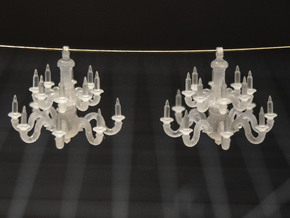 Pair of 1:48 Chandeliers in Smooth Fine Detail Plastic