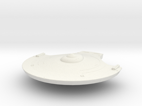 1000 TOS Saucer v7 in White Natural Versatile Plastic