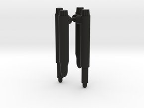 Dirge Ramjet Action Master Missiles in Black Natural Versatile Plastic