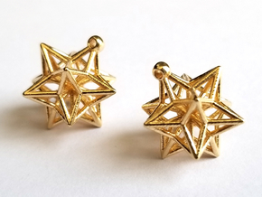 Star Charms, Pair in Natural Brass