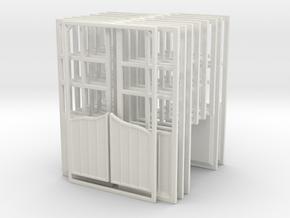 SALOON DOORS AND WINDOWS in White Natural Versatile Plastic
