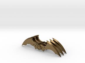 Arkham Asylum Batarang (3 pieces bundle) in Natural Bronze