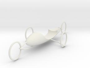 Vehicle prototype.v.001 in White Natural Versatile Plastic