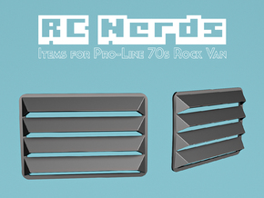 RCN267 Rear Window Louvers for Pro-line Van in White Natural Versatile Plastic