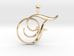 F in 14K Yellow Gold