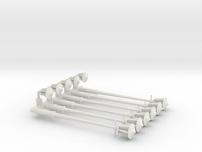 gaslampen schaal 1:87 (H0) in White Natural Versatile Plastic