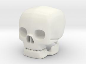 skull solid in White Natural Versatile Plastic
