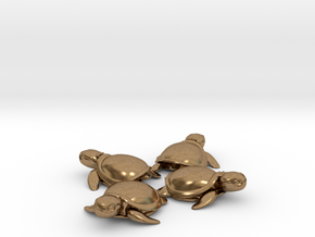 TMNT Little Turtles (4 pieces bundle) in Natural Brass