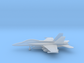 Boeing F/A-18F (with wing tanks) in Smooth Fine Detail Plastic: 1:200