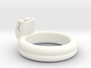 Cherry Keeper Ring - 46mm Double Flat +2° in White Processed Versatile Plastic