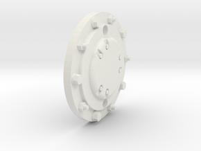 Monster Truck Transport Wheel Cover in White Natural Versatile Plastic: 1:10