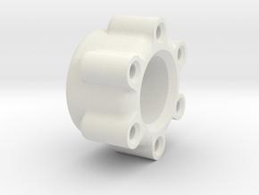 Transport wheel adapter 12mm in White Natural Versatile Plastic: 1:10