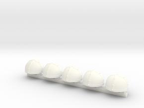 5 x Celtic Helmet in White Processed Versatile Plastic