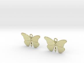 Butterfly Earrings (Pair) in 18k Gold