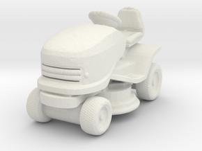 Riding Lawn Mower 1/87 in White Natural Versatile Plastic