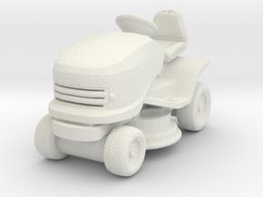Riding Lawn Mower 1/76 in White Natural Versatile Plastic