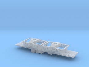 N Scale CNSM 604 line car underframe in Smooth Fine Detail Plastic