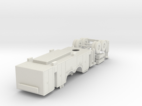 1/87 Pittsburgh Ladder Body Compartment Doors V2 in White Natural Versatile Plastic
