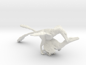 Raptor Dance - 1:35 Velociraptor in White Natural Versatile Plastic