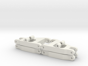 TAMIYA FALCON FRONT A-ARM SET in White Natural Versatile Plastic