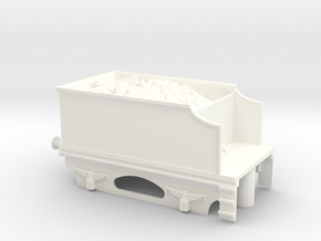 4 Wheel Tender With Coal and Bearing Sockets in White Processed Versatile Plastic