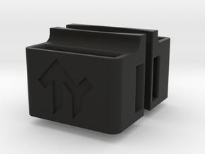 Ottolock brackets for ziptie in Black Natural Versatile Plastic: 1:32
