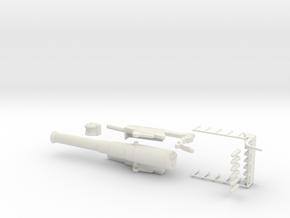 bl 9.2 inch gun 1/76 model kit oo rail gun railway in White Natural Versatile Plastic