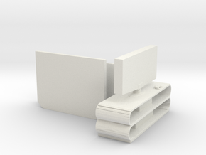 S Scale Flat Screen TVs in White Natural Versatile Plastic
