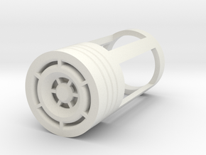 Blade Plug - Reactor in White Natural Versatile Plastic