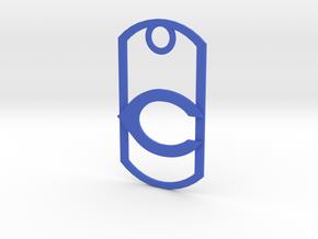 "Carlsbad ""C"" dog tag in Blue Processed Versatile Plastic"