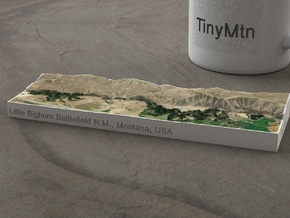 Little Bighorn, Montana, USA, 1:50000 in Natural Full Color Sandstone