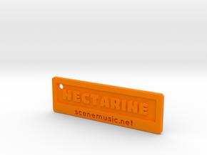 Nectarine Key Fob Plastic Too in Orange Strong & Flexible Polished