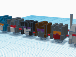 Heads for Combaticon Kreons (Set 2 of 2) in Smooth Fine Detail Plastic