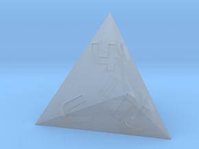 D4 Pyramid - Sci-Fi Font in Smoothest Fine Detail Plastic
