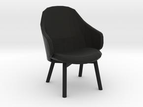 desktop mini chair  in Black Natural Versatile Plastic: Small