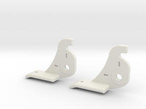 Two Atwood Window Latch (short) in White Natural Versatile Plastic