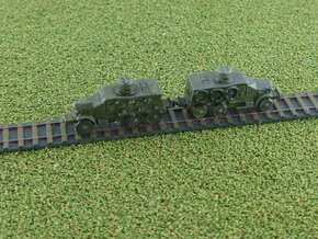 Type 91 Sumida Armoured Car (rail) 1/285  in Smooth Fine Detail Plastic