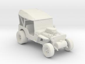 1942 Jeep Rod 1:160 scale in White Natural Versatile Plastic